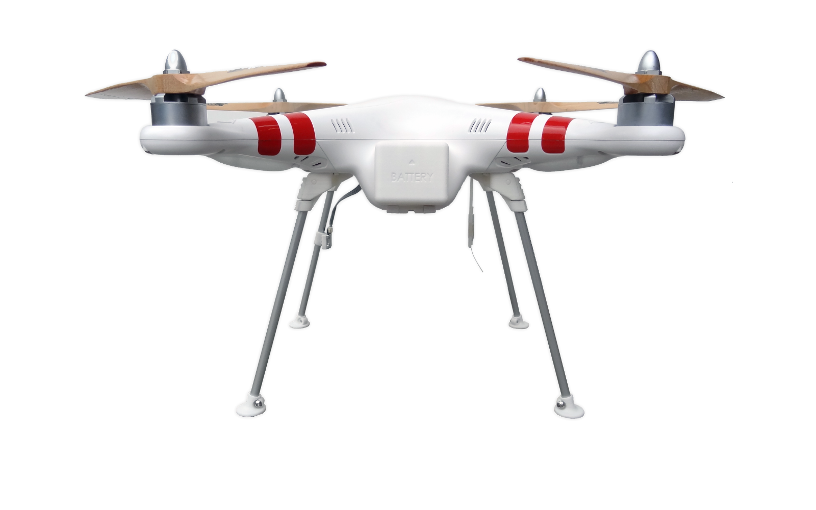 MaikelsDesign wide landing gear mounted on a DJI Phantom drone