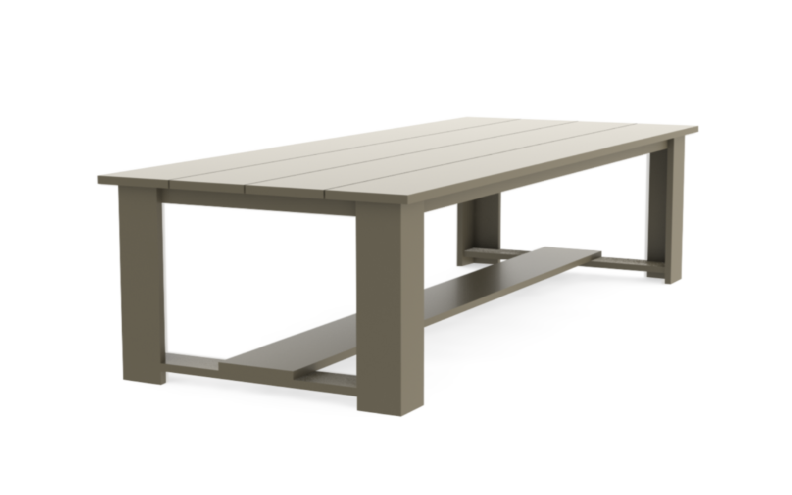 MaikelsDesign custom garden table shown at an angle